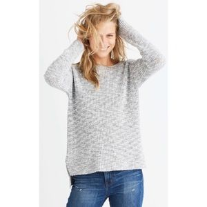 MADEWELL Eastbank Gray Pullover Knit Sweater
